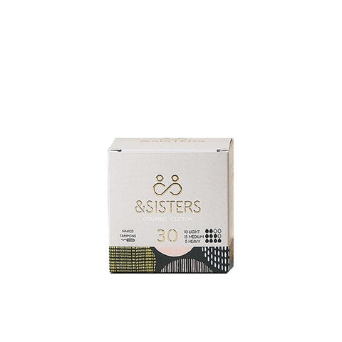 &Sisters | Mixed Organic Cotton Tampons x 30 Tampons | A Little Find