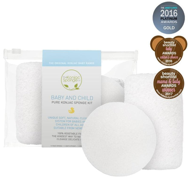The Konjac Sponge Company | Baby And Child Pure Konjac Sponge Kit | A Little Find