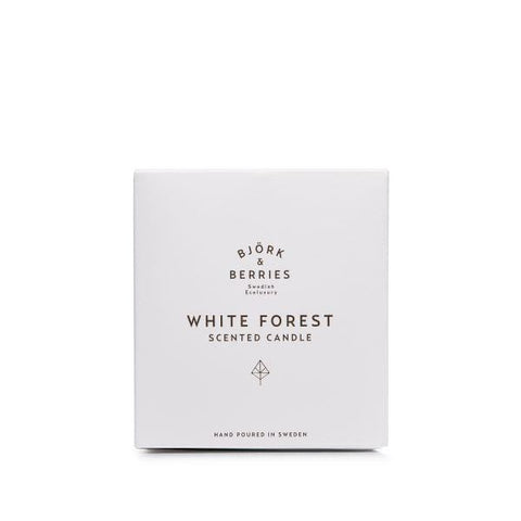 Bjork & Berries | White Forest Scented Candle - 220g | A Little Find