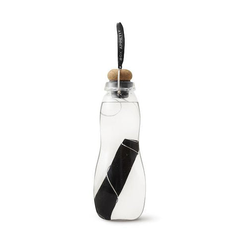 Black + Blum | Eau Good Glass - Black Water Bottle | A Little Find