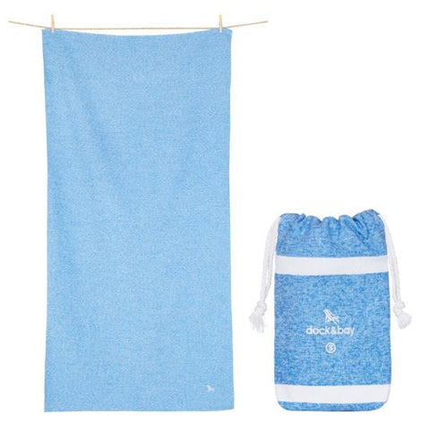Dock & Bay | Towel - Active Lagoon Blue | A Little Find