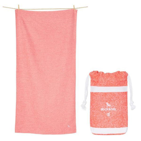 Dock & Bay | Towel - Active Volcanic Red | A Little Find