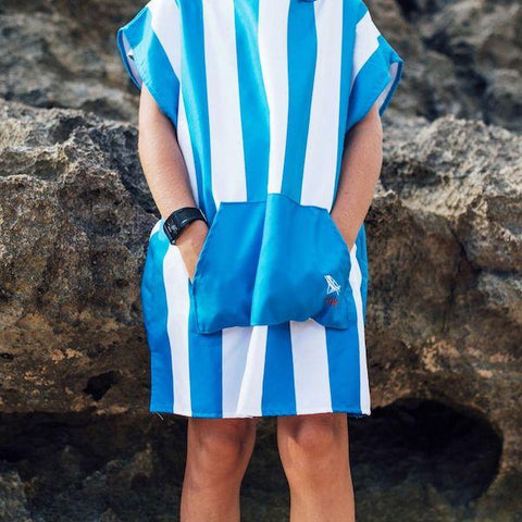 Dock & Bay | Mini Poncho - Bondi Blue - Children | A Little Find