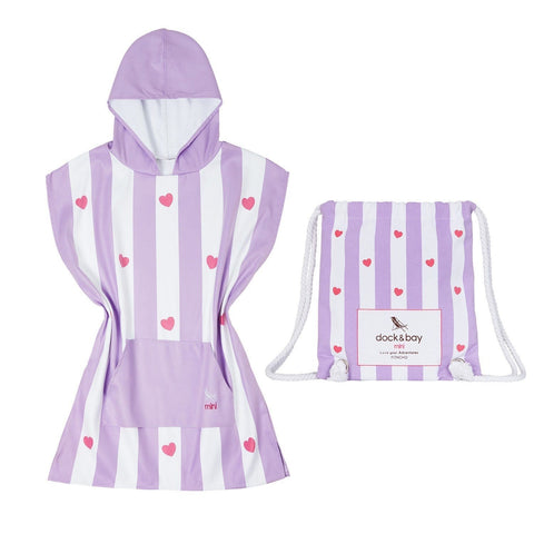 Dock & Bay | Mini Poncho Towel - Lovely Violet | A Little Find