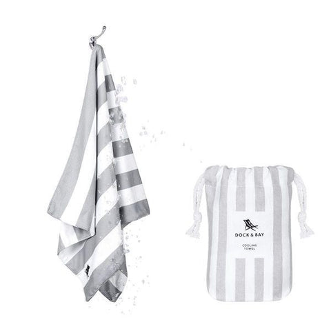 Dock & Bay | Quick Cool Towel - Goa Grey | A Little Find