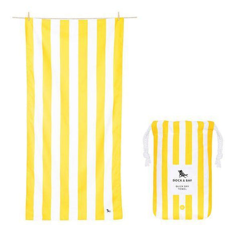 Dock & Bay | Towel Cabana Boracay Yellow | A Little Find
