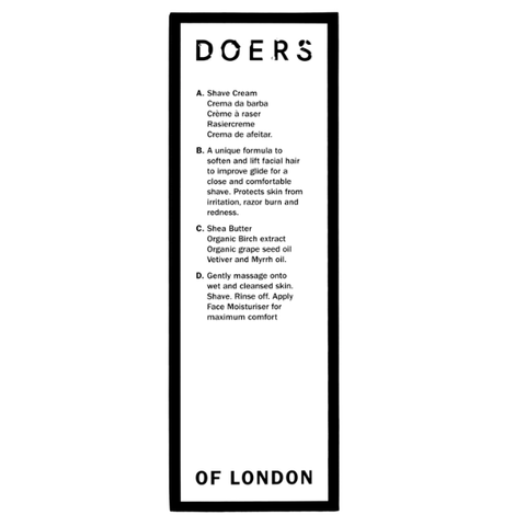 Doers Of London | Shave Cream - 100ml | A Little Find