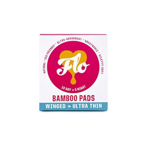 Flo | Bamboo Pads With Wings - 10 Day & 5 Night | A Little Find