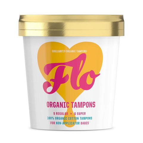Flo | Non-Applicator Organic Cotton Tampons x 16 | A Little Find