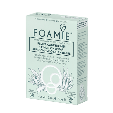 Foamie | Aloe Vera Conditioner Bar - Dry Hair - 80g | A Little Find