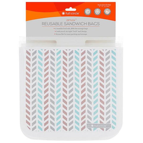Full Circle | Reusable Sandwich Bag - Chevron Print | A Little Find