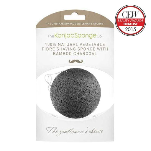 The Konjac Sponge Company | Konjac Gentlemen's Shaving Sponge with Bamboo Charcoal | A Little Find