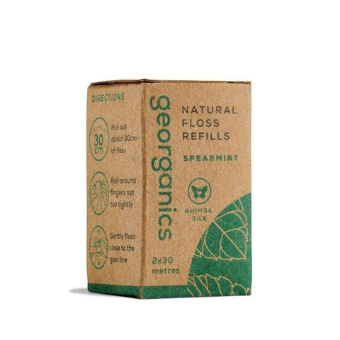 Georganics | Natural Floss Refills - Spearmint  | A Little Find