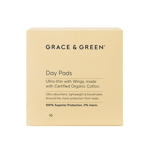 Grace & Green | Organic Day Pads With Wings 10 Pads | A Little Find