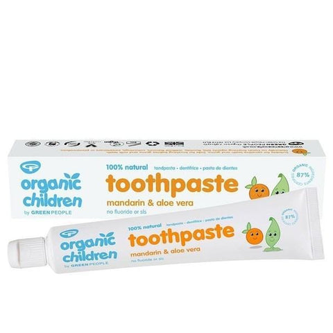 Green People | Mandarin & Aloe Vera Kids Toothpaste | A Little Find