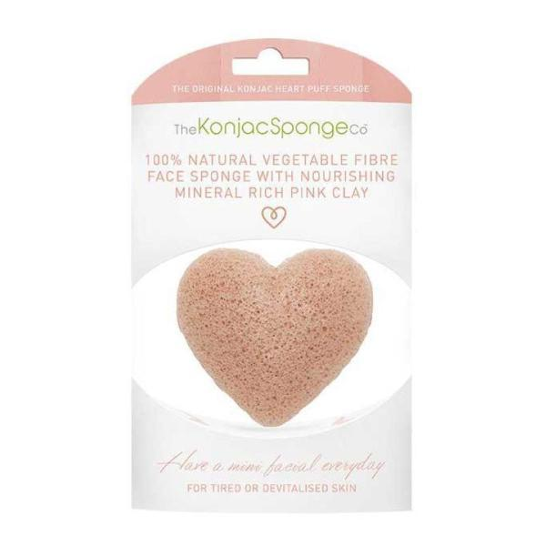 The Konjac Sponge Company | Konjac Heart Facial Sponge With Pink French Clay | A Little Find