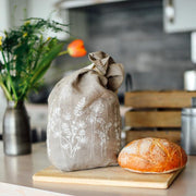 Helen Round | Bread Bag Pure Linen - Garden Natural | A Little Find