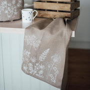 Helen Round | Tea Towel Pure Linen - Garden Natural | A Little Find
