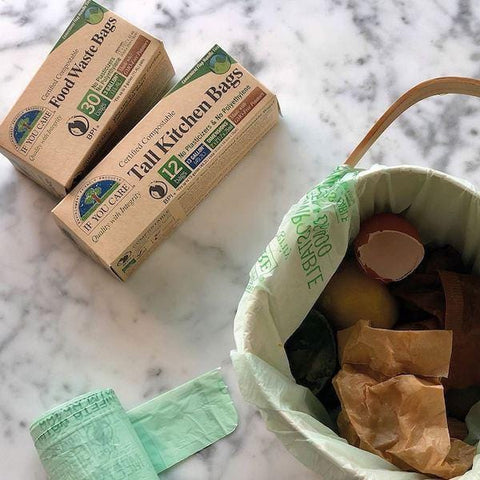 If You Care | 13 Gallon Compostable Tall Kitchen Bags | A Little Find