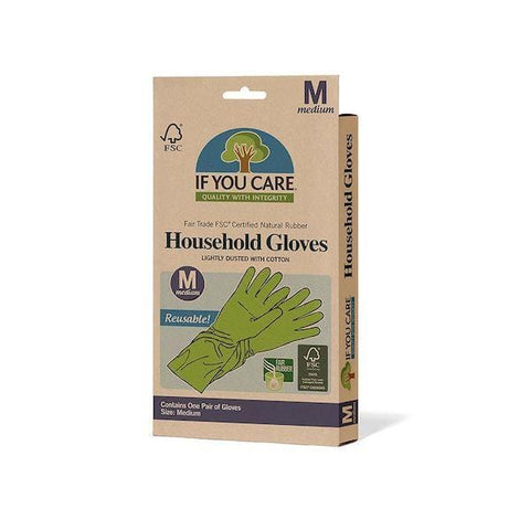 If You Care | Rubber Latex Household Gloves - Medium | A Little Find