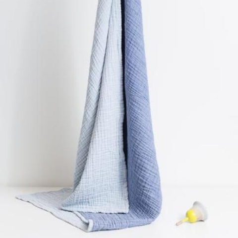 Mori | Cuddle Blanket - Blue & Navy | A Little Find