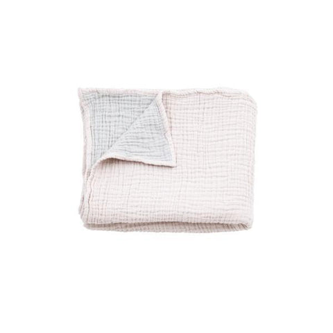 Mori | Cuddle Blanket - Blush & Grey | A Little Find