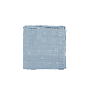 Mori | Muslin Swaddle - Dusk Blue - Large | A Little Find