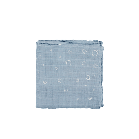 Mori | Muslin Swaddle - Dusk Blue - Regular | A Little Find