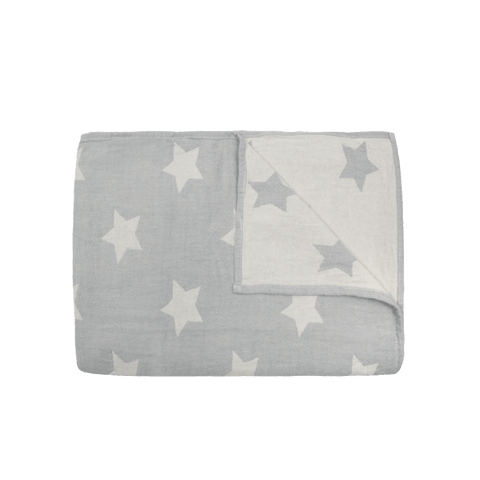 Mori | Star Throw - Soft Grey - Large | A Little Find