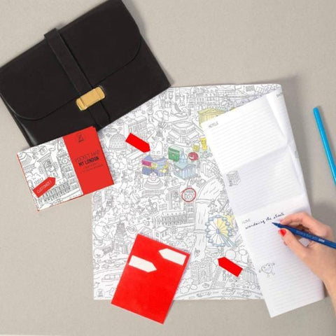 OMY | Colouring Pocket Map - My London | A Little Find