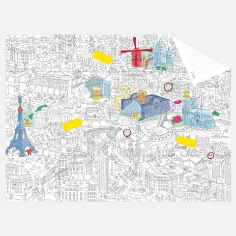 OMY | Colouring Pocket Map - My Paris | A Little Find