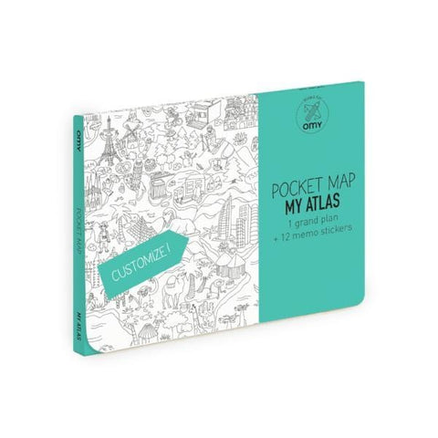 OMY | Colouring Pocket Map - My Atlas | A Little Find