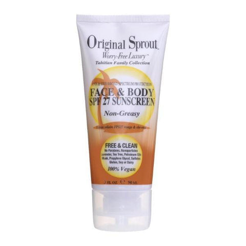 Original Sprout | Face & Body SPF 27 Sunscreen - 90ml | A Little Find