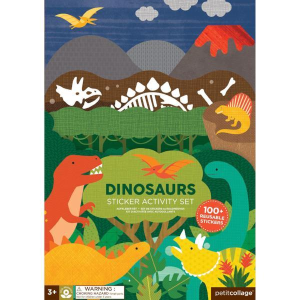 Petit Collage | Dinosaurs Sticker Activity Set | A Little Find