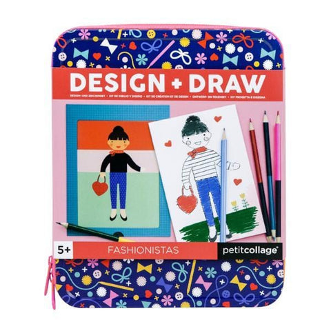 Petit Collage | Fashionistas Design & Draw Activity Kit | A Little Find