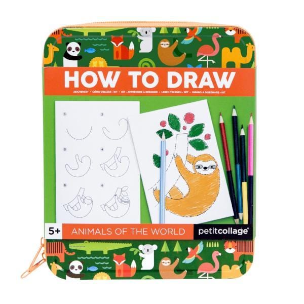Petit Collage | How to Draw Animals of the World Activity Kit | A Little Find
