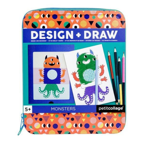 Petit Collage | Monsters Design & Draw Activity Kit | A Little Find