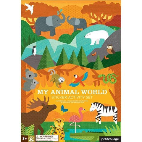 Petit Collage | My Animal World Sticker Activity Set | A Little Find