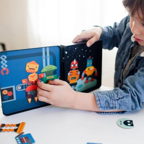 Petit Collage | Robot Magnetic Play Set | A Little Find