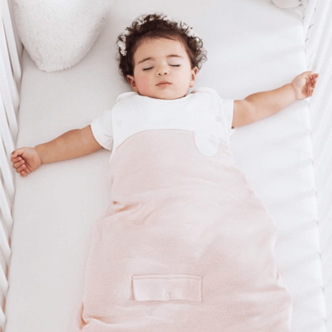 Mori | Summer Clever Sleeping Bag 0.5 Tog - Blush Stripe | A Little Find