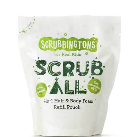 Scrubbingtons | 3 in 1 Hair & Body Wash Refill Pouch | A Little Find