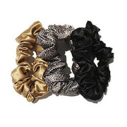 Slip | Large Scrunchies - Leopard Gold Black Set of 3 | A Little Find