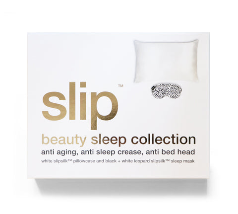 Slip | The Beauty Sleep Gift Set - White/leopard (Value £124) | A Little Find