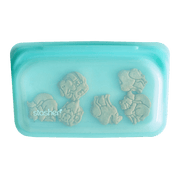 Stasher | Reusable Silicone Snack Bag - Aqua | A LITTLE FIND