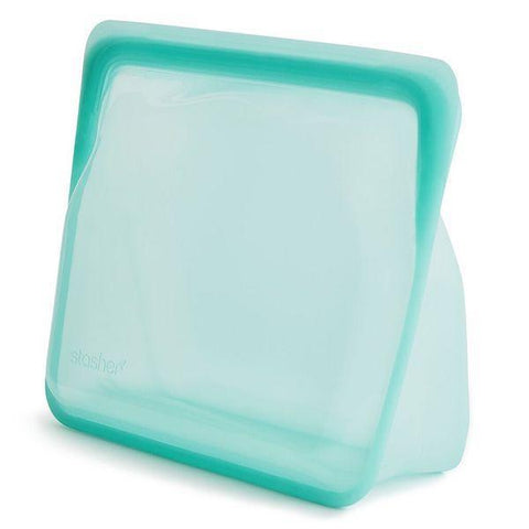 Stasher | Reusable Silicone Stand-Up Bag - Aqua | A LITTLE FIND