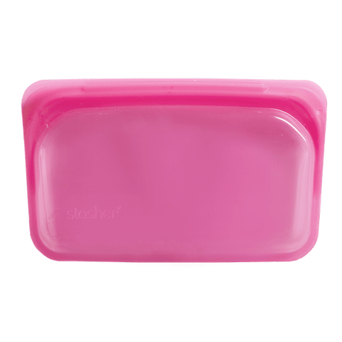 Stasher | Reusable Silicone Snack Bag - Raspberry | A LITTLE FIND