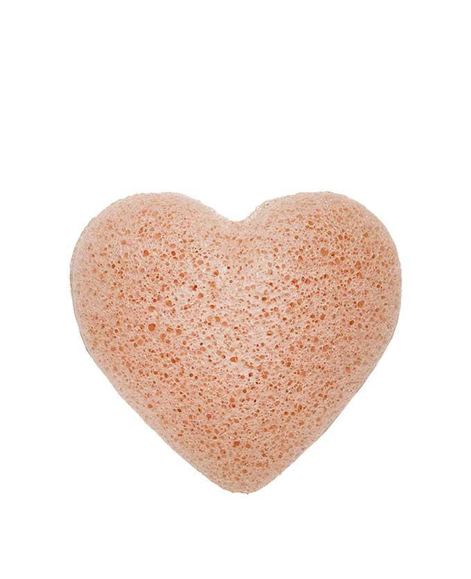 The Konjac Sponge Company | Konjac Heart Sponge with Pink French Clay | A Little Find