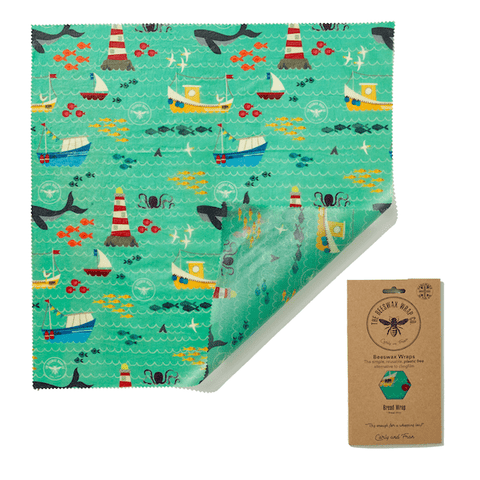 The Beeswax Wrap Co | Bread Wrap - Sail Print | A Little Find