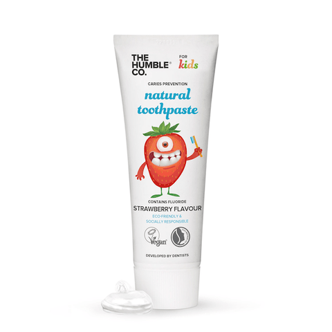 The Humble Co. | Kids Natural Toothpaste Strawberry| A Little Find