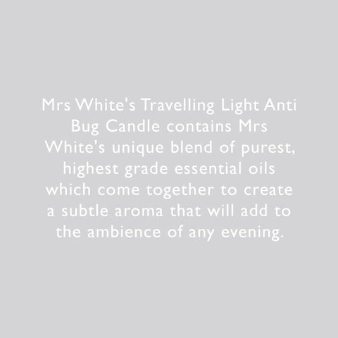 Mrs White's | Anti-Bug Travel Candle | A Little Find